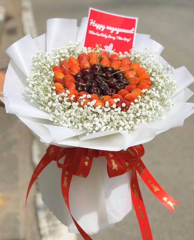 sot hoa an duoc ngay trong ngay valentine
